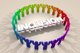 Inclusion People Together Include Diversity Word 3d Illustration